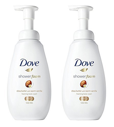 - Dove Shower Foam - Foaming Body Wash - Shea Butter With Warm Vanilla - Net Wt. 13.5 FL OZ (400 mL) Per Bottle - Pack of 2 Bottles