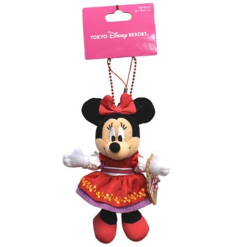 Disney Minnie Mouse Berry-chan stuffed strap Critter Country Costumes Resort (Country Mouse Costume)