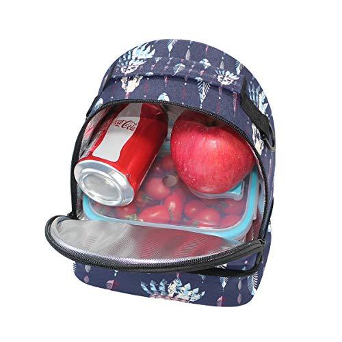 isotherme Boîte tête Folpply Cooler indien à l'école lunch Motif pour réglable mort Pincnic Tribal de à avec Tote bandoulière Sac BBvnf1