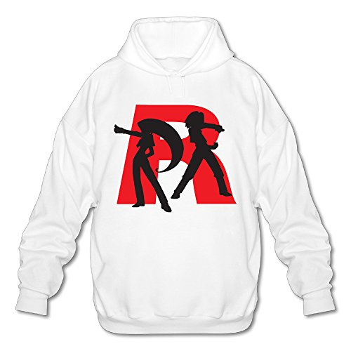 SAMMOI Team Rocket 8 Men's Fashion Hoodies XL White