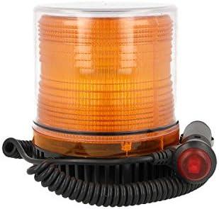 LUCE LAMPEGGIANTE LED ARANCIONE STROBO CALAMITATO 12V SEGNALAZIONE EMERGENZA