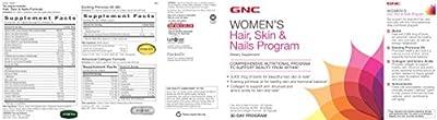 GNC Womens Hair Skin Nails Program, 30 Packets,