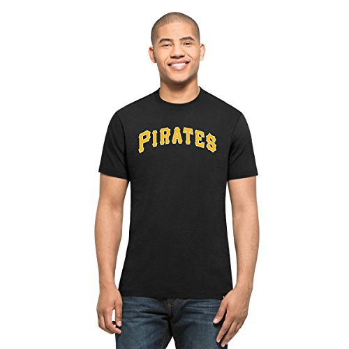 MLB Pittsburgh Pirates Men's '47 MVP Splitter Tee, Jet Black, Medium