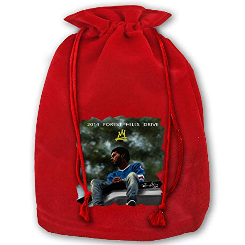 (Christmas Drawstring Gift Bags, 2014 Forest Hills Drive Santa Sack Backpack for Party and Candy and)