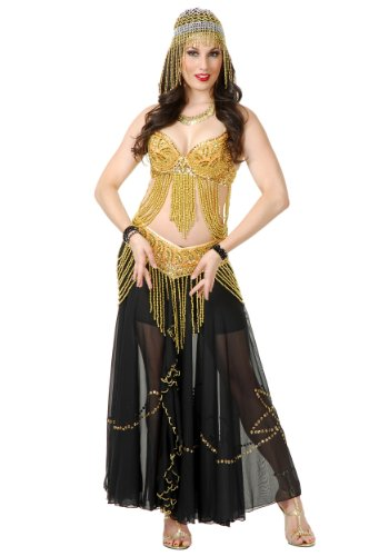 [Charades womens Golden Belly Dancer Costume Large/X-Large] (Golden Belly Dancer Costumes)
