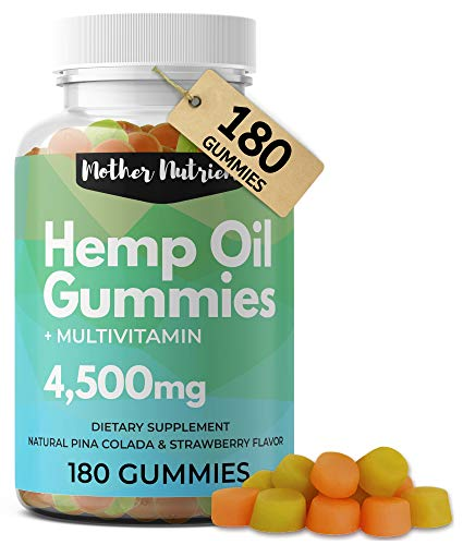 Hemp-Gummies-for-Pain-and-Anxiety-180-Hemp-Gummy-Bears-with-51-Milligrams-of-Hemp-Oil-per-Serving-4500-Milligrams-Total-Plus-Multi-Vitamins-for-Overall-Health-No-THC-Gummies