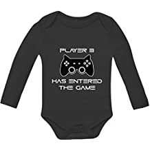 Player 3 Has Entered The Game - Gift Third Child Gamer Baby Long Sleeve Onesie