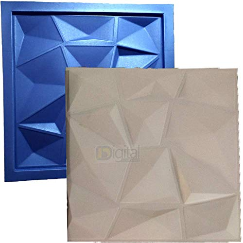 27 Big Plastic with Rubber Sheets molds for Plaster 3D Walls