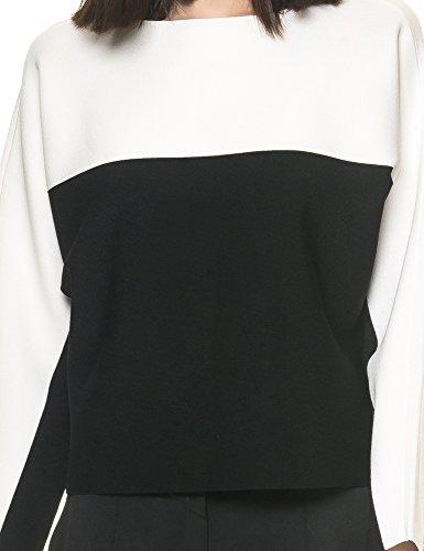 Kendall + Kylie Women's Women's Black-White Top Viscose Black