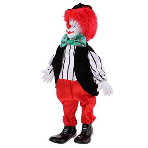 menolana Porcelain Clown Doll for Kids Toy Gifts Halloween Christmas Home Decor #3 (Collectible Porcelain Clown Doll)