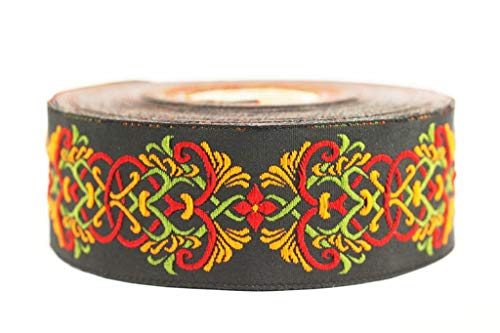 Trim Knot Celtic (35 mm Celtic Knot Design Orange Jacquard Trim, Middle Earth Inspired Ribbons (1.37 inches), DIY Sewing Supplies, Sewing Trim, Clothing, Fashion Ribbon (10 Meters/ 32.8 ft) (10 Meters/ 32.8 ft))