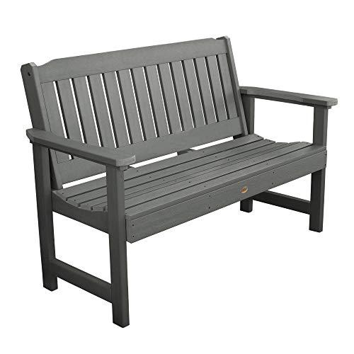 Highwood AD-BENW1-CGE Lehigh Garden Bench, 5 Feet, Coastal Teak