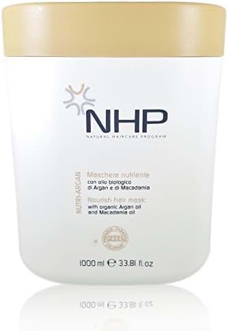 NHP Nutri Argan Hair Mask Organic Argan Oil Macadamia Oil (Dry and Colored Hair) 33.81 Fl. Oz