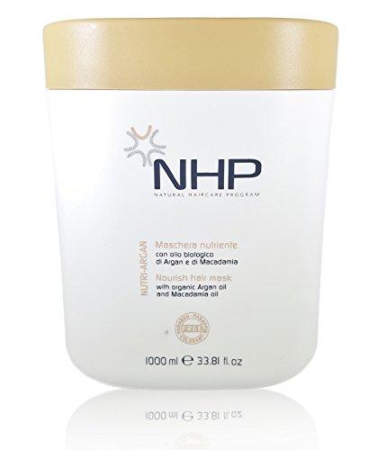 NHP Nutri Argan Hair Mask Organic Argan Oil Macadamia Oil Dry and Colored Hair 33.81 Fl. Oz