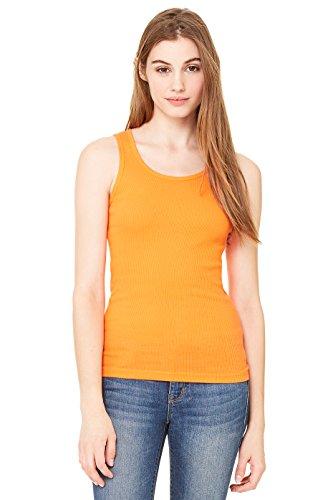 Zara Yoga Studio  LA  Women's 2x1 Rib Tank (Large/Orange)