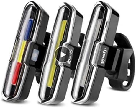 Accesorios MTB 120 lúmenes USB recargable cola delantera y trasera ...