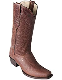 Men's 7 Toe Light Brown Genuine Leather Volcano Skin Western Boots - Exotic Skin Boots