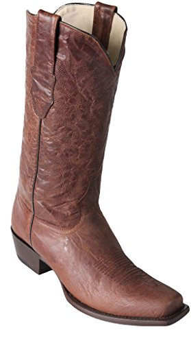 Volcano Leather Skin Brown Exotic Genuine Light Skin Boots Boots Men's Toe Altos Western Los 7 wzB8qB0