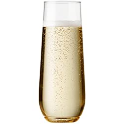 Shatterproof Stemless Champagne Glasses - Set of 12