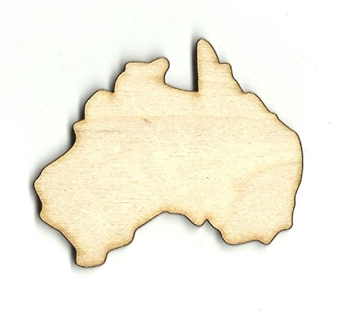 Australia Laser (Australia - Laser Cut Unfinished Wood Shape WLD51)