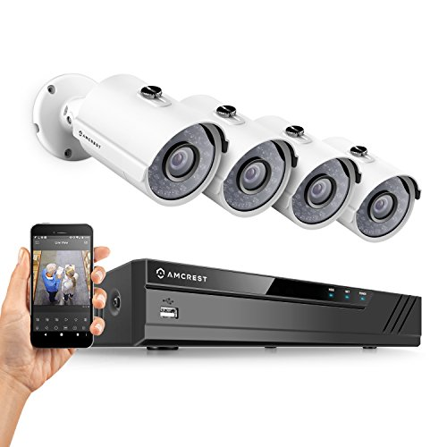 Amcrest Full-HD 1080P 8CH Video Security System w/Four 2.0MP (1920TVL) Outdoor IP67 Bullet Cameras, 65ft Night Vision, Hard Drive Not Included, (AMDV10818-4B-W) Review
