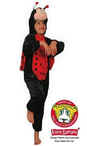 Safari Plush Costume Ladybug- Large