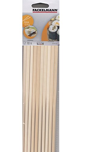 Probus Asia 10 x Chinese Reusable Bamboo Wooden Chopsticks Fackelmann 30110