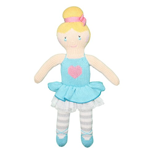 Zubels Baby Girls' Zoe The Ballerina Plush Toy Doll, All-Natural Fibers, Eco-Friendly, 100% Cotton