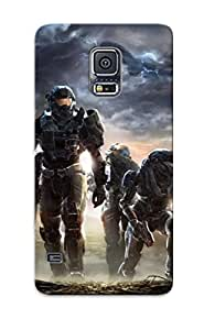 Exultantor High Grade Flexible Tpu Case For Galaxy S5 - Video Games Futuristic Weapons Armor Halo Reach ( Best Gift Choice For Thanksgiving Day)