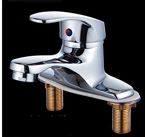 Oudan Mixer Water Tap Hot and cold copper Double hole Wash your face bathroom