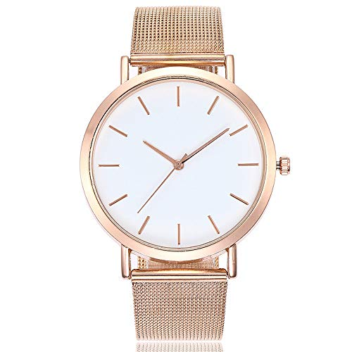 Watches for Women, DYTA Stainless Steel Watch Strap 20mm Ladies Watches on Clearance Under 10 Simple Analog Quartz Wrist Watches White Face Casual Ladies Watchs Relojes De Mujer En Oferta by DYTA_watch (Image #3)