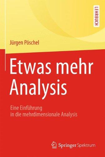 Etwas mehr Analysis: Eine Einführung in die mehrdimensionale Analysis