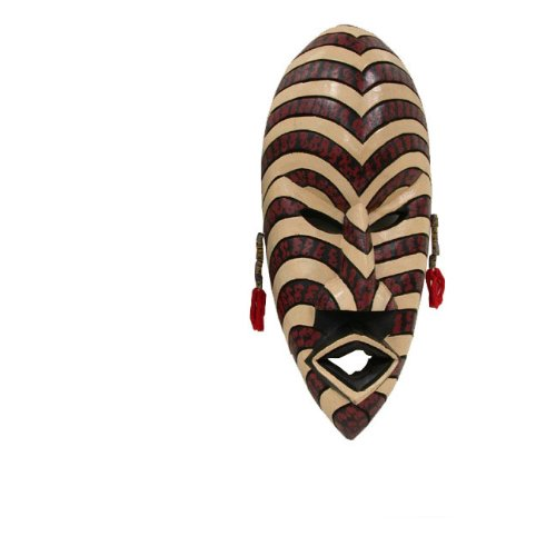 Mask Hausa Striped Wall mask - Handmade in Ghana by African Heritage Collection