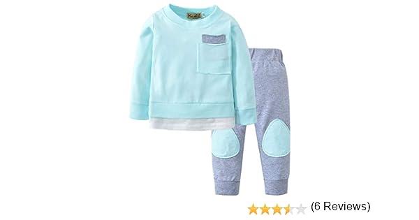 K-youth Ropa Bebe Niño Otoño Invierno 2018 Ofertas Infantil Pijama Recien Nacido Bebé Niña Sudaderas Manga Larga Camisetas Blusas + Pantalones Largos ...