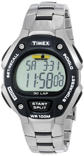 Timex Men's IRONMAN 30-Lap Stainless Steel & Resin Sports Watch #T5H971