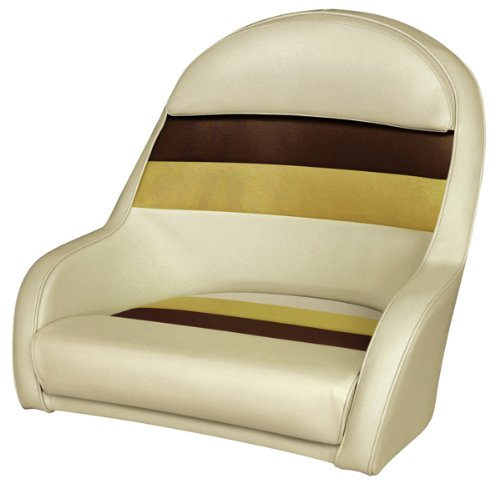(Wise 8WD120LS-1010 Pontoon Captains Bucket Seat, Sand/Chestnut/Gold)