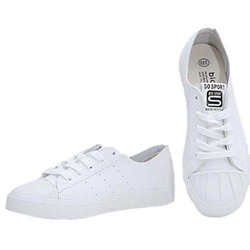 Señora XIE Zapatos Estudiantes WHITE Clásico Sólido Ocio 36 Movimiento Verano 39 Negro Danza Color Blanco Fitness fqCqwdr