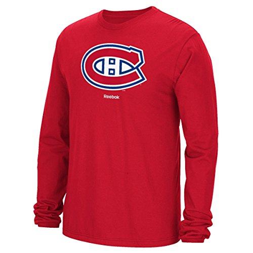 Montreal Canadiens Reebok NHL Jersey Trikot Crest Long Sleeve Men's T-Shirt