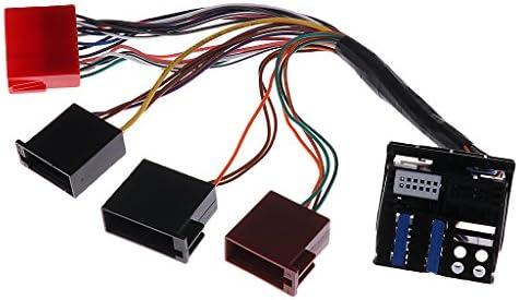 Mini ISO 配線 フォルクスワーゲンオーディナビゲーション用 オーディオアダプター 耐久性 PLUG & PLAY