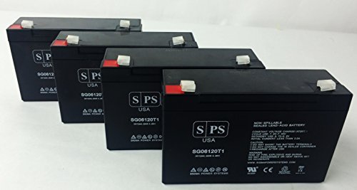 6V 12Ah APC Back-UPS Network Powercell BD 6V 12Ah UPS Replacement Battery - SPS Brand (4 Pack)