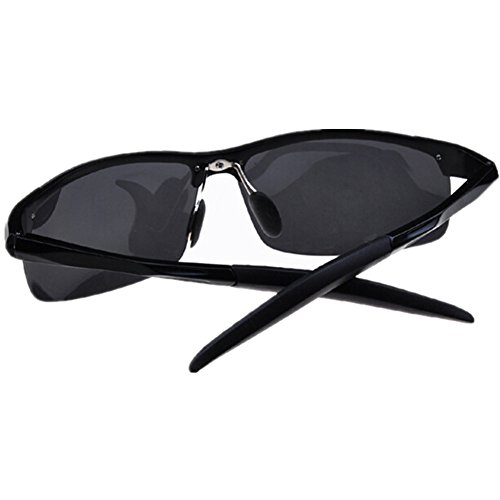 OULAIOU Mirrored Aviator Polarized Driver Sport Sunglasses-Black Gray (Sunglasses Cataracts To Prevent)