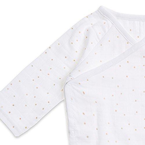 ng Sleeve Kimono Body Suit, Metallic Gold Confetti Dot, 0-3M (Metallic Kimono)