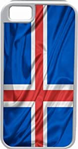 Rikki KnightTM Iceland Flag White Tough-It Case Cover for iPhone 5 & 5s(Double Layer case with Silicone Protection)