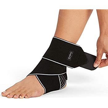 ComfiLife Ankle Brace for Men & Women - Adjustable Compression Ankle Support Wrap - Perfect Ankle Sleeve for Plantar Fasciitis, Achilles Tendon, Minor Sprains, Sports - Breathable, One Size Fits All