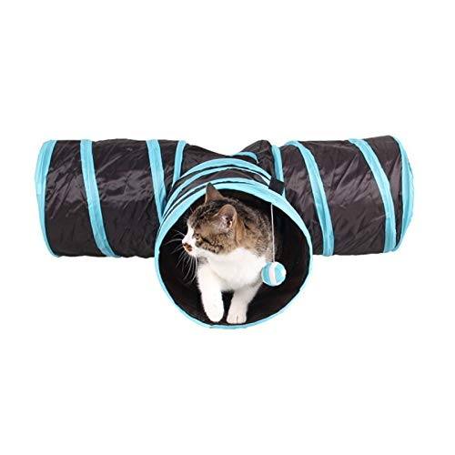 - Cat Toys - Funny Y Shape 3 Way Pet Foldable Toys Cat Tunnel Tent Nest Home Folding Training Cats - Treat Soccer Necklace Motorized Soft Valentine Octopus Little Automatic Heart Sparkle Food