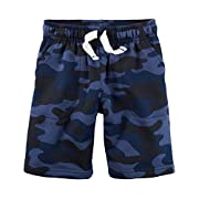Carter's Baby Boys' French Terry Shorts (Baby) (9 Months, Blue Camo)