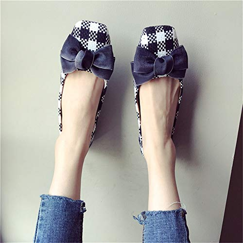 single Casual shoes flat shoes shoes shoes work pregnant FLYRCX fashion EU bottom lattice 39 ladies comfortable soft women zv77ZYqwd