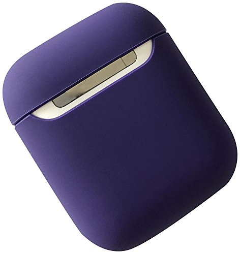 Damon Protective Podskin Airpods Case Shock Proof Soft Skin for Airpods Charging Case (Purple Silicone Skin Case)