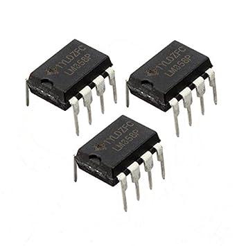 10pcs LM358P 3-32V 30nA DIP-8 de alimentación única de doble amplificador operacional