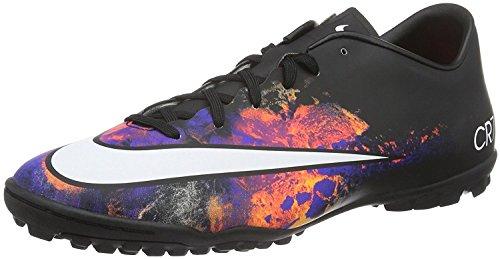 Nike Men's Mercurial Victory V CR TF Turf Soccer Shoe Black/Total Crimson/White Size 11.5 M US